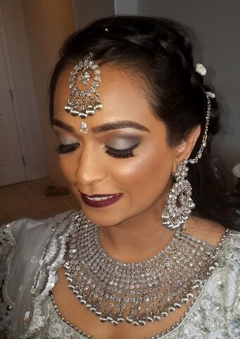 India bride with make for her wedding day