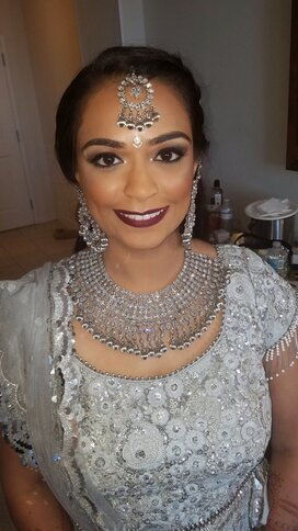 Bridal make on bride for her indian wedding day